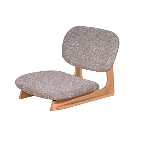 Bodenstuhl Tatami Rücksitz Balkon Erker Niedriger Stuhl Bett Stuhl Beinloser Stuhl Und Raumstuhl Einfach Zu Montierender Bodenloser Stuhl (Color : Grey, Size : 50 * 50 * 47cm)