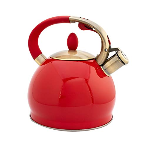 3.5L 304 Stainless Steel Teakettle Teapot Automatic Whistling Stove Top Induction Cooker Tea Kettle Ergonomic Handle
