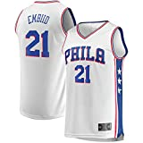 ZDFG Blanco - Hombres Leisure Baloncesto Philadelphia 76ers Camiseta NO.21 Camisetas Fan Shirt Vest Sportswear Tops Joel Embiid Style Embroidery Fabric