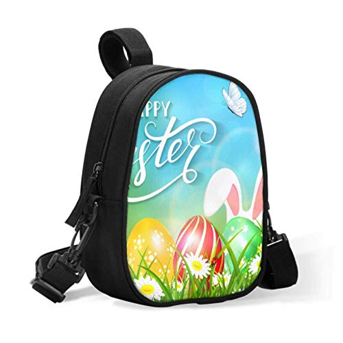Girl Lunch Bag Easter Theme Ears Bunny Butterflies Flying Breastmilk Cooler for Storage Bags Baby Bottle Bag Organizer Easily Attaches to Stroller for Travel Baby Bottle Warmer Or Cool