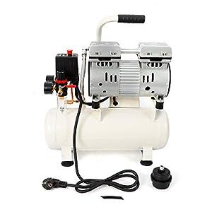41swquKL28L. SS300  - Compresor de aire 680 W, sin aceite, sin aceite, mantenimiento sin aceite, 57 db, silencioso, 9 L, compresor de aire…