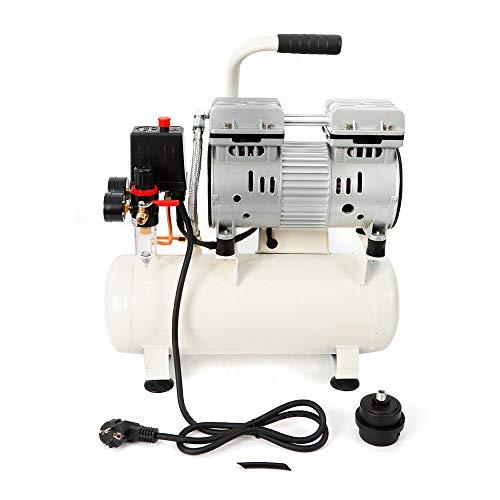 680W ÖLfrei Luftkompressor Kompressor Druckluft Luftkompressor öLfrei Wartung 57db FlüSter Silent 9L Kessel Luftkompressor für Autolackierung,Holzbearbeitung,Dekoration,wissenschaftliche