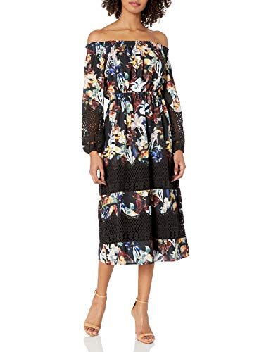 CATHERINE CATHERINE MALANDRINO Women's Olive Dress, Dark Lily, L