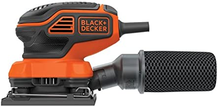 BLACK+DECKER Electric Sander, 1/4-Inch Sheet, Orbital (BDEQS300)