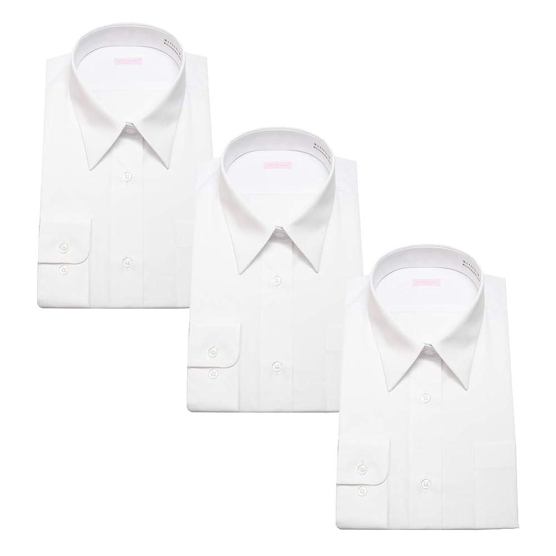 経験者太い干渉する[スティングロード] 女子スクールシャツ 3枚セット 女子 長袖 学生用 スクールシャツ 3枚組 ブラウス 形態安定 制服 Yシャツ カッターシャツ ブラウス MA4100-AM-3