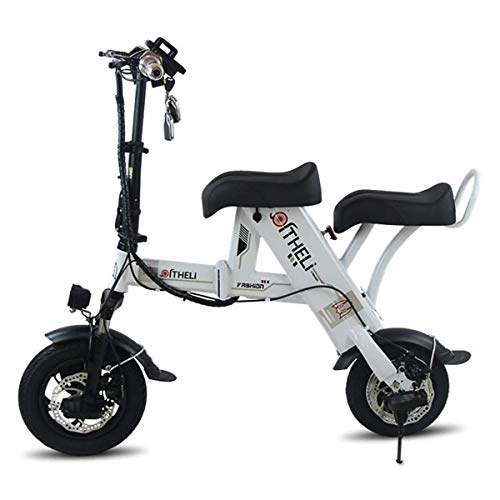 Yuany 48V 500W elektrische Fat Tire Scooter, Adult Citycoco mit 2-Sitzer Power Scooter, Schlüsselstart und Power Display, Weiß