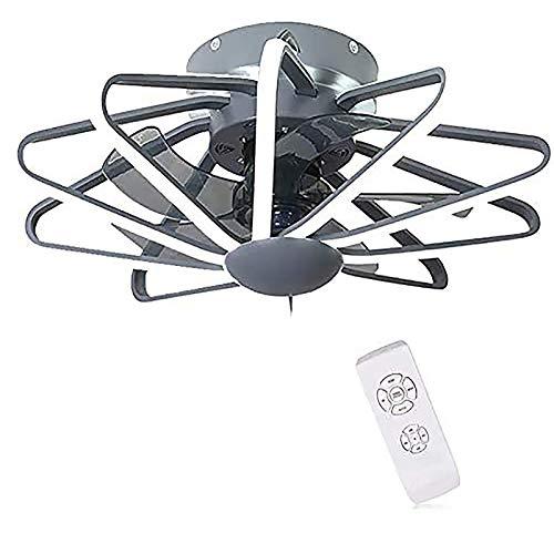 WOERD Ventilador De Techo LED con Lámpara Ajustable Velocidad De La Luz Ajustable Ventilador De Techo con Control Remoto Silenciosa Invisible Luz De Techo Ventilador