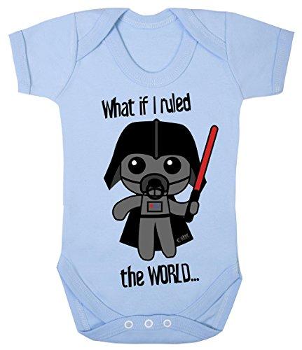 Star Wars Body pour bébé hypoallergénique Motif inscription « What If I Ruled The World Cheeky » - Bleu - 0 mois