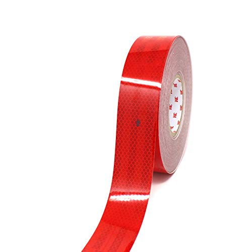 3M Diamond Grade 983 Scotchlite Konturmarkierung 55mm Reflexfolie Reflexband - Finest Folia (Rot-72, 1 Meter)