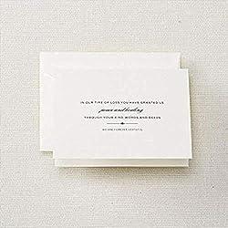 memorial service thank you card