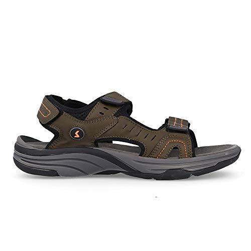 Sandalia Soft Kaki Paredes ALBIR - Velcro - Talla 46