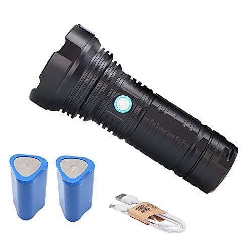 Linterna LED Alta Potencia, Antorcha de Mano, 5 Modos Impermeable Táctica con 18650 Batería Recargable, Para Ciclismo Camping Montañismo