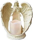 ZCYY Candelabro, candelabro de Resina candelabro Europeo Retro ala de ángel candelabro decoración del hogar artesanía Vintage candelabros decoración de Escritorio candelabro (tamaño: PE