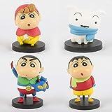 MIRECLE 4 Estilos Anime Crayon Shin-Chan Superman Doll Car Car Dibujos Animados Modelo 6cm