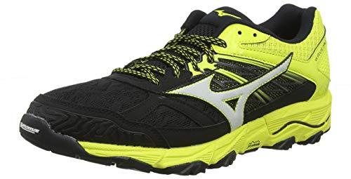 Mizuno Wave Mujin 5, Zapatillas de Running para Asfalto para Hombre, Negro (Black/Glacier Gray/Bolt 31), 44.5 EU