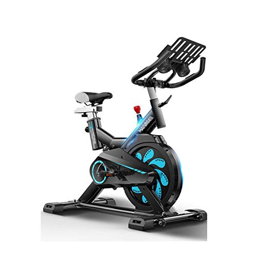 DJDLLZY Bicicleta estática, la Bicicleta estática de Ciclo Indoor, Asiento Ajustable Manillar, Ordenador Lee Calorías Velocidad Distancia Tiempo Sensores del Ritmo cardíaco, Bicicleta de Spinning for