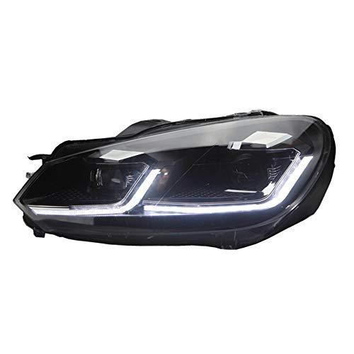 Satz 7.5-Look Scheinwerfer kompatibel mit Volkswagen Golf VI 2008-2012 - Schwarz - inkl. Dynamic Running Light