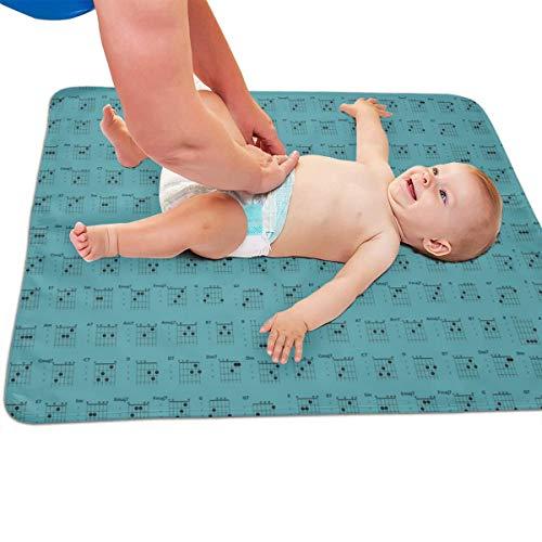 Gitaar akkoorden Teal gewatteerde dikker Langer Waterdichte Veranderende Pad Liners voor Babies 31.5 X 25.5 inch