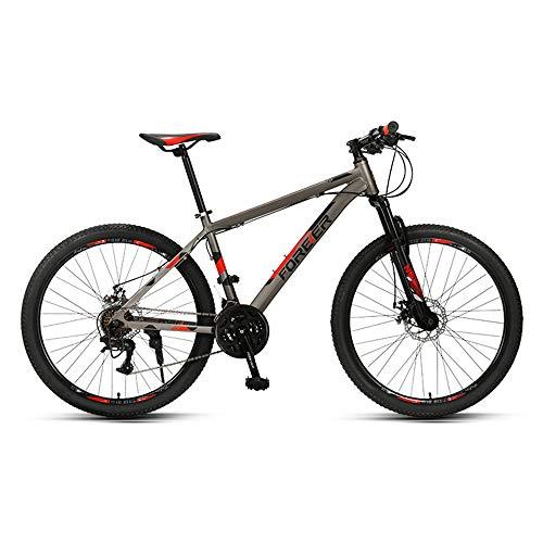 Bicicleta, Bicicleta de montaña todoterreno de choque, Bicicleta de 26 pulgadas y 24 velocidades, Para adultos, fácil de instalar, Cuadro de aleación de aluminio, Con herramientas de instalación