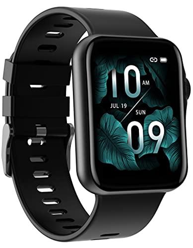 Smartwatch Telefon Blutdruck Funktion,1,6 Zoll Fitnessuhr für Damen Herren,Kalorienzähler Armband, Fitness Tracker mit 3D Dynamisches Zifferblatt Musik,Pulsuhr Uhr,Schrittzähler,Wasserdicht