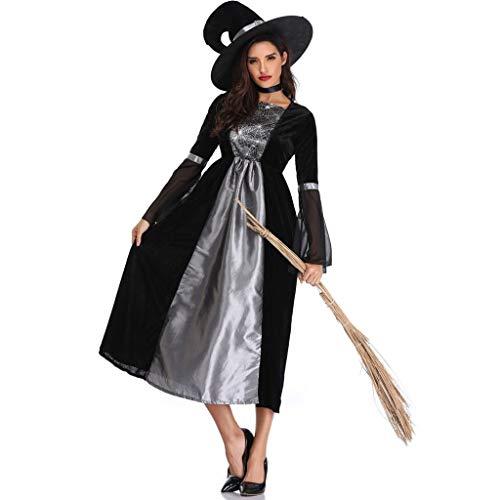 Halloween Vrouwelijk Kostuum, Vrouwen Heksen Jurk, Halloween Cosplay Party Jumpsuit Fancy Kostuum, Vintage Gotische Partij Galajurk