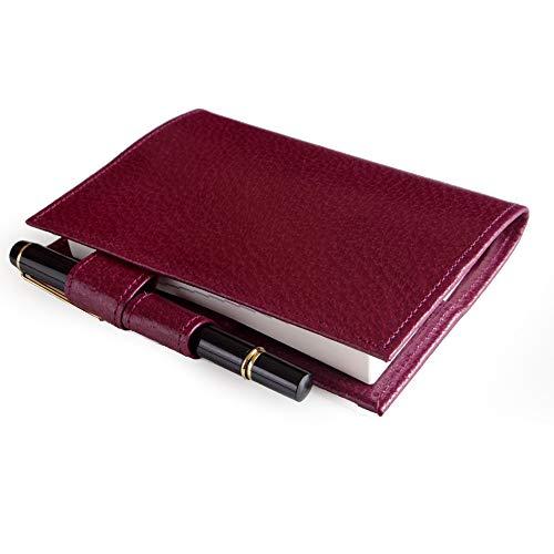 ほぼ日手帳対応 文庫サイズ ブックカバー(ペンホルダー付) ※手帳本体は付きません (レッド)