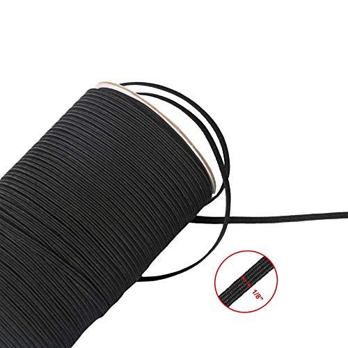 Deirdre Agnes Elastisch koord wit/zwart elastisch materiaal voor handnaaimateriaal naaimachine 200 Yards
