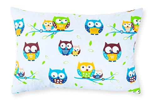 Amilian® Dekokissen Kissenbezug Kissen 40cm x 60cm Eule Blau