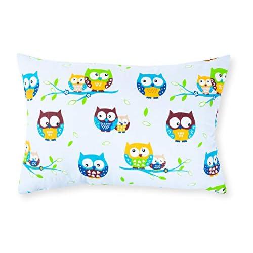 Amilian®, Federa decorativa per cuscino da 40 x 60 cm, motivo: gufo blu