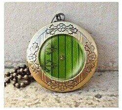Halskette mit Medaillon im Vintage-Stil von der Hobbit-Tür aus Herr der Ringe