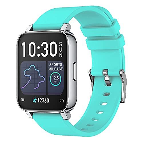 P36 Smart Watch GPS Men's Men's Women's 1.69 Pulgadas Fitness Fitness Tracker IP67 Reloj Inteligente Impermeable-Azul Claro