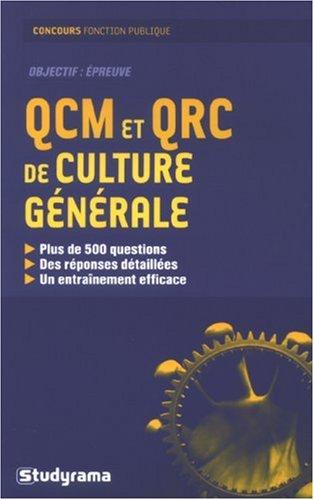 Qcm et qrc de culture generale (Concours fonction publique)