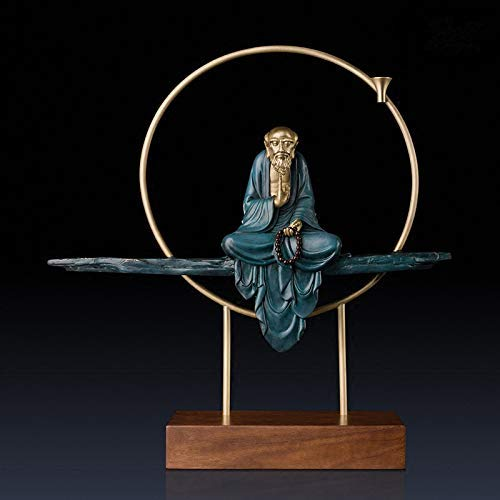 RTYUI Buddha Ornament Sitting Statue Bodhidharma Meditating in Stunning (Large)