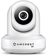 Amcrest UltraHD 2K WiFi Camera 3MP Security Wireless IP Camera with Pan/Tilt, Dual Band 5ghz/2.4ghz, Two-Way Audio, Wide 90° Viewing Angle, Updated Javascript Firmware, Version 2, IP3M-941W (White)