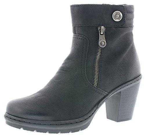 Rieker Damenschuhe Y1553 Damen Stiefel, Schlupfstiefel, Boots schwarz (schwarz / 01), EU 40