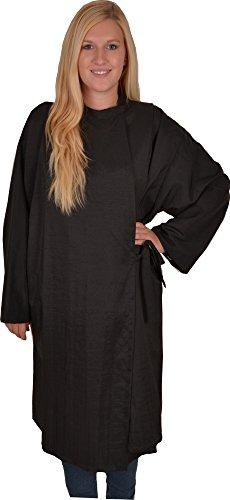 Solida Manteau de coiffeur avec fermeture Velcro Noir