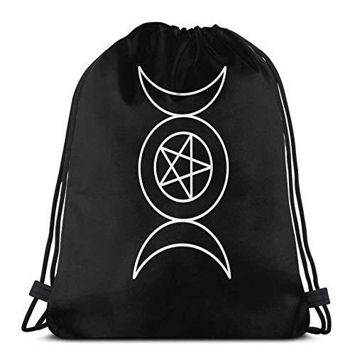 Trippy Skull Variety Face Towel Drawstring Backpack Sport Bag Gym Sack Style 8