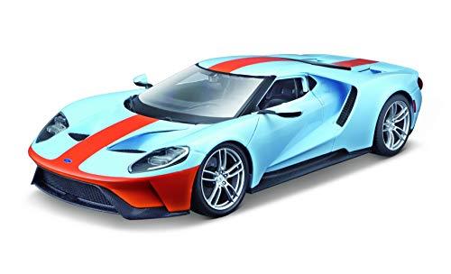 Maisto Ford GT `17: Modellauto mit Federung, Maßstab 1:18, Türen und Motorhaube beweglich, Fertigmodell, lenkbar, 24 cm, blau (531384)