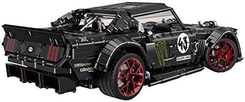 AMITAS 2493 Teile Custom Bausteine Technik Bauspiel Sportwagen Bauset Rennwagen Kompatibel mit Großen Marken