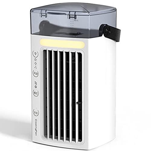 Refrigerador De Aire Portátil Personal, Con Pantalla LCD Acondicionador De Aire Enfriadores Evaporativos USB Con 3 Velocidades 7 Colores LED De Luz LED Para Uso En El Hogar Uso Del Estudio