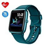 Smartwatch, Fitness Armband Tracker Voller Touch Screen IP68 Wasserdicht Fitness Uhr Aktivitätstracker mit Pulsuhren Schrittzähler, GPS Armbanduhr Sportuhr für Damen Kinder Sportuhr für iOS Android