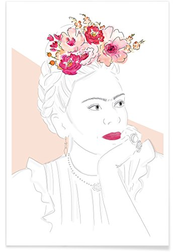 "Juniqe® Frida Kahlo Poster 40x60cm - Design ""Frida"" entworfen von KRUTH Design"