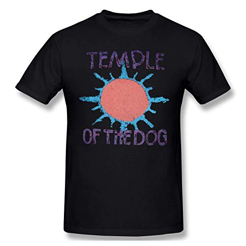 COOTHING Men's Printing Temple of The Dog Crew Neck Short Sleeve Tee