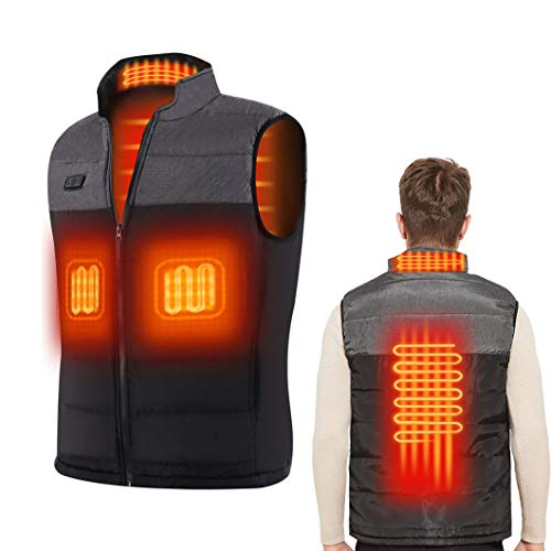 Heated Vest Heating Jacket with 3 Adjustable Temperature Electric USB...