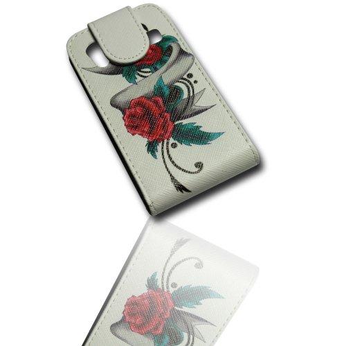 Handy Tasche Flip Style - Design No.3 - Cover Hülle Hülle kompatibel mit Samsung S5830 Galaxy Ace