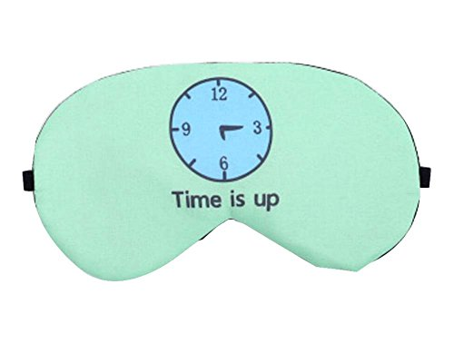 Creative Cartoon Sleeping Eye Mask Personnalité Lovely Eyeshade, Clock Blue