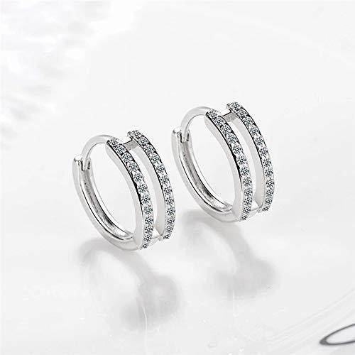 Home CNLXDSB Earring Earring New 925 Sterling Silver Zircon Hoop Earrings For Women Party Jewelry Gift for Women Girls