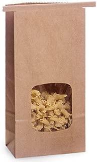 Kraft 1/2 Lb. Tin Tie Bakery Bag w/ Square Window - by Premium Tin Ties
