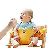 Lychee Faltbar Tragbar Esszimmerstuhl Sicherheitsgurt Schutzgurt Anschnallgurt für Baby und Kleinkind (Gelb)