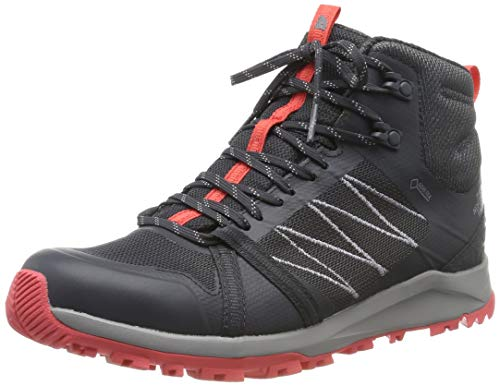 THE NORTH FACE Damen W Lw FP Ii Mid GTX Trekking- & Wanderstiefel, Grau (Ebony Grey/Fiesta Red C40), 37.5 EU
